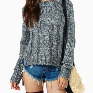 Nastgal Montauk hi-lo sweater by Cotton Candy